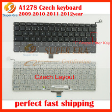 "10pcs/lot Czech keyboard for macbook pro 13.3"" A1278 Czech keyboard clavier without backlight 2009-2012"