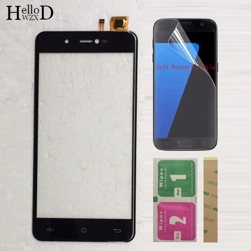 Mobile TouchScreen Touch Screen Front Glass For Cubot R9 Touch Screen Sensor Touch Panel Digitizer Panel + Protector Film