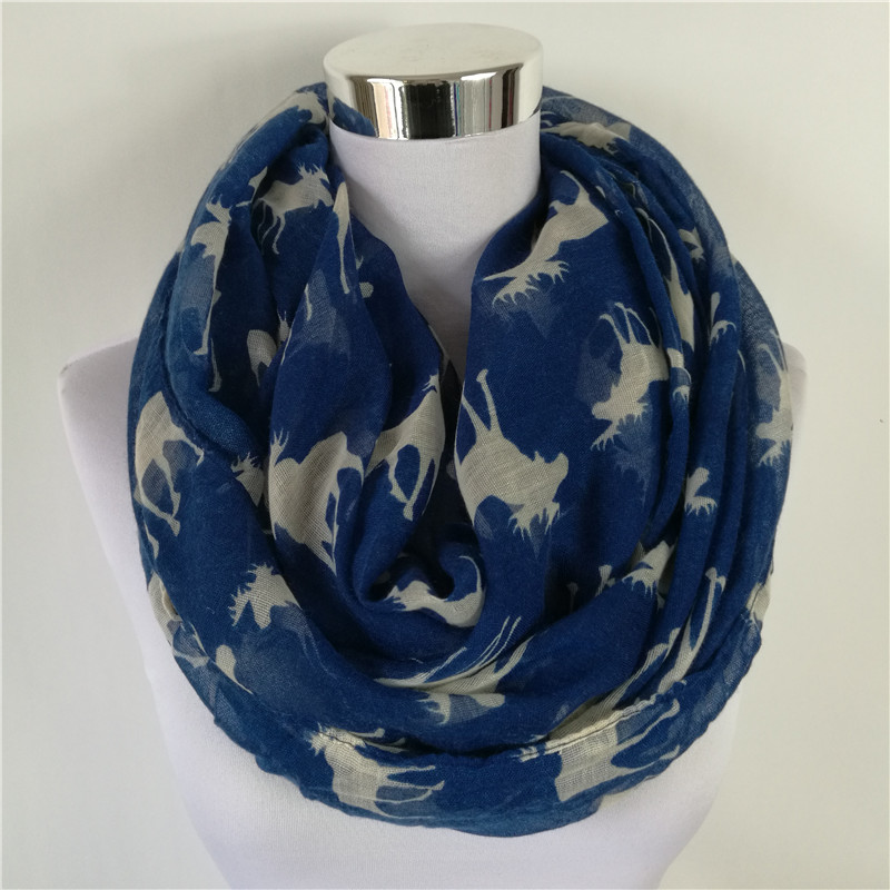 Free shipping New Fashion elk Infinity Voile Scarf Animal Scarf elk Scarves 10PCS LOT