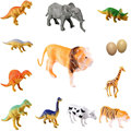 Baby Kids Farm 12pcs Wild Animal Plastic Dinosaur Figure Classic Toys Gift