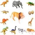 O bebê Caçoa a Fazenda 12 pcs Animal Selvagem Brinquedos Clássicos Figura de Dinossauro de Plástico Presente