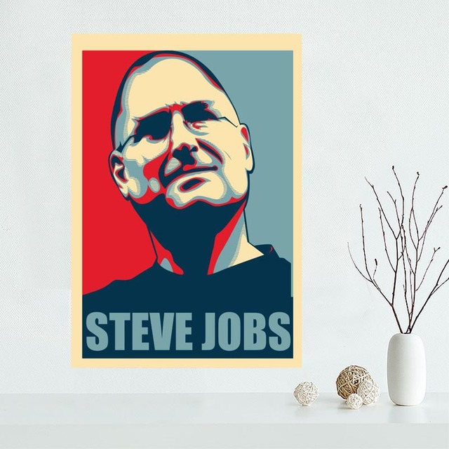 Classical Custom Steve Jobs Canvas Painting Poster Cloth Silk Fabric Wall  Art Poster For Home Decor