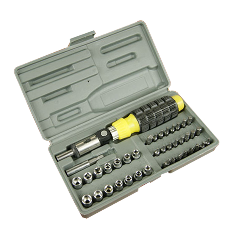 41pcs Sockets Wrench Screwdriver Hand Tools Kit For