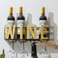 Металлический настенный держатель вина держатель бокалов вверх дном и творческий бытовой настенный стеллаж