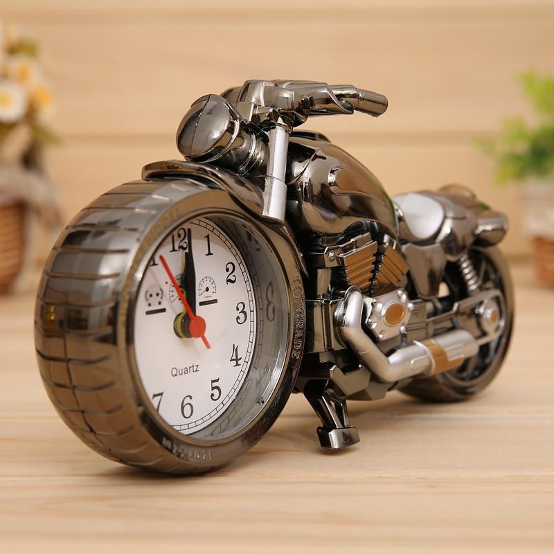 New design creative gifts cool motorcycle Alarm clocks table clock relogio modern despertador for kids home desk decoration