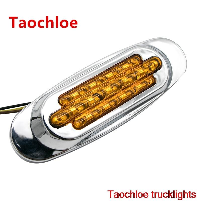 10X amber 12v Sealed led Truck trailer Bus Side Marker Clearance Lamp Lights 165 55mm Rear