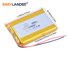 965068 three.7V 3800mAh Rechargeable Li-Polymer Li-ion Battery For Pill PC Cell phone energy financial institution DVR DVD GPS