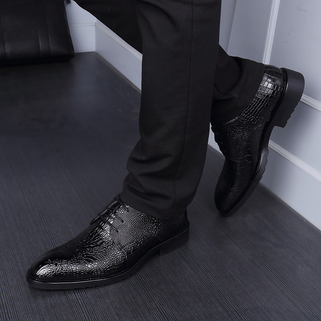 NPEZKGC  2018 Spring Autumn Men Formal Wedding Shoes Luxury Men Business Dress Shoes Men Oxfords Shoes
