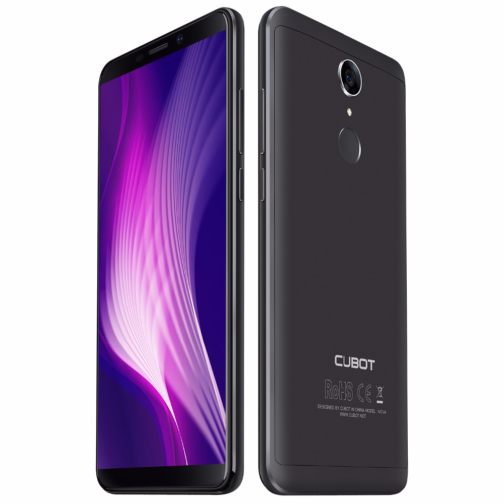 Original Cubot Nova Android 8.1 18:9 Full Screen 3GB 16GB 5.5 Inch MT6739 Quad-Core Smartphone 2800mAh Dual 4G Dual Sim Celular