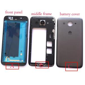 """Image 1 - front lcd screen middle bezel Battery Door Back Cover Housing Case for Huawei Y3 2017/Y3 2018/Y5 lite 2017  5.0"""""""