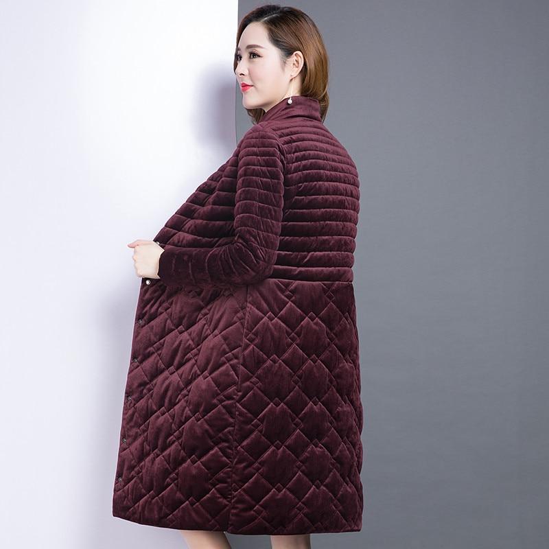 Rouge D'hiver Al1386 Manteau De Taille 5xl Mode Coton Long Vestes Teaegg Mince Chaud Manteaux Rembourré Parka Femmes wine La Vin Red Black Et Plus 6xl Ftwppq10O