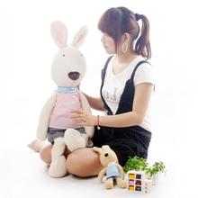 Main section pernycess1pcs60cm dot lesucre rabbit doll genuine security color: black and white brown