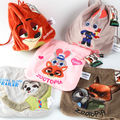Anime Zootropolis plush shrink bags Judy Nick Flash Zootopia cute rope storage bag drawstring gift bags free shipping