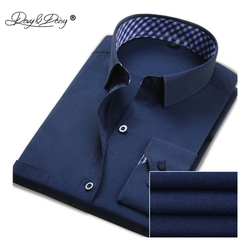 DAVYDAISY Hot Sale Men Shirt Long Sleeved Fashion Solid Striped Male Formal Business Shirts Brand Clothing Dress Shirt Man DS016