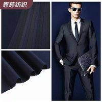 Twill shuttle weave TR wool stretch suit trousers fabric production wholesale worsted silk serge polyester viscose cloth