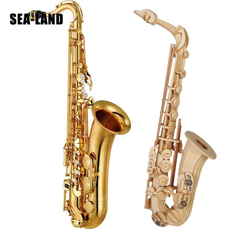 Juguetes Rompecabezas De 3d A Montessori Madera Diy Educación Para Niños Saxofón QrdhtsC