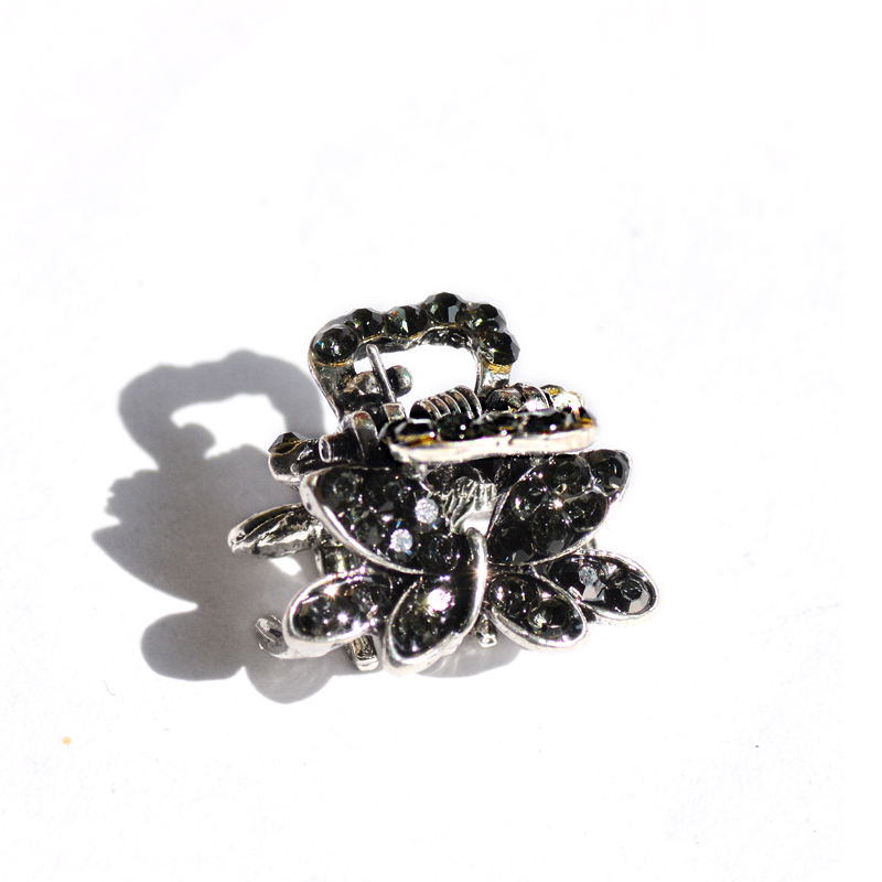 muylinda Butterfly Rhinestone Hair Claw Crab Smykker Vintage Women - Mode smykker - Foto 6