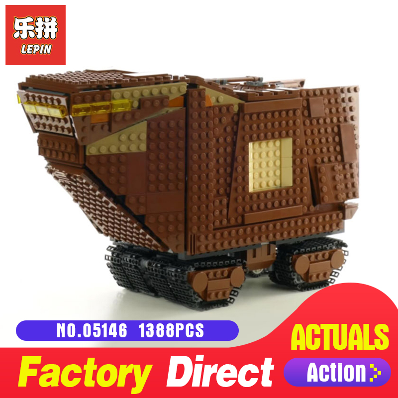 New Lepin 05146 Star Gifts Series The Sandcrawler Compatible Legoing 75220 Model Building Blocks Kids Toys Funny Christmas Wars new star wars series the sandcrawler compatible legoing starwars 75220 model building blocks kids toys funny christmas gifts