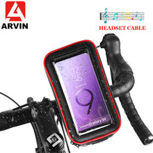 ARVIN Waterproof Bicycle Motorcycle Phone Holder For iPhone X Samsung Cycling Bike Touch Screen Phone Case Bag Support GPS Mount аквабокс overboard waterproof phone case and bike mount ob1156blk