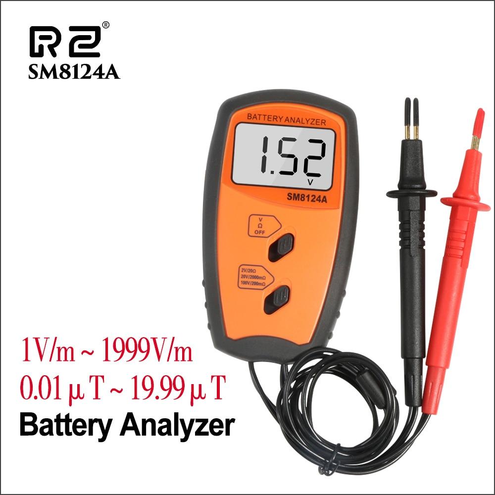 RZ тестер батареи цифровой монитор батареи iphone литиевое электронное устройство Тестер батареи Электрический SM8124A анализатор батареи