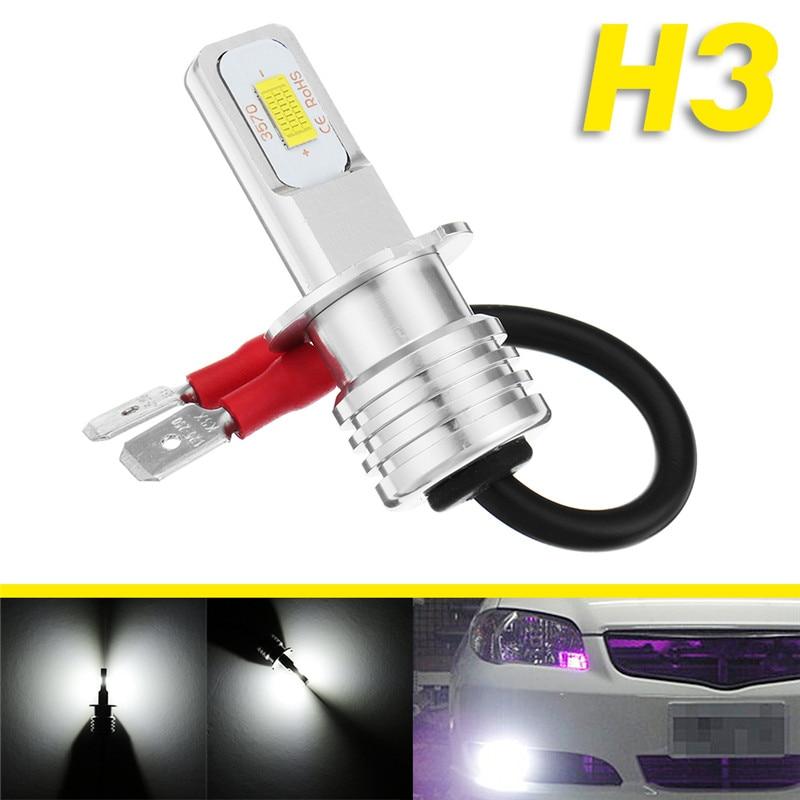 1Pcs H3 72W LED Fog Light Car Led Daytime Running Lights Fog Light DRL Auto Lamp 12V 24V LED Day Driving Light
