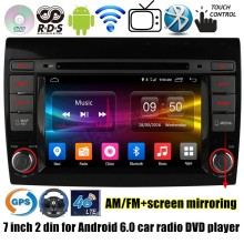 Quad Core Android 6.0 Car DVD Player Navigation GPS TV function 4G SIM LTE Radio stereo WiFi RDS for Fiat Bravo 2007-2012