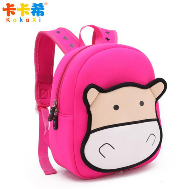 KAKAXI New 3-5-6 Year Old Small Cow Children School Bag Boys And Girls  Fashion Book Bag Baby Shopping Bag During Backpack A458 be74dde497ab4
