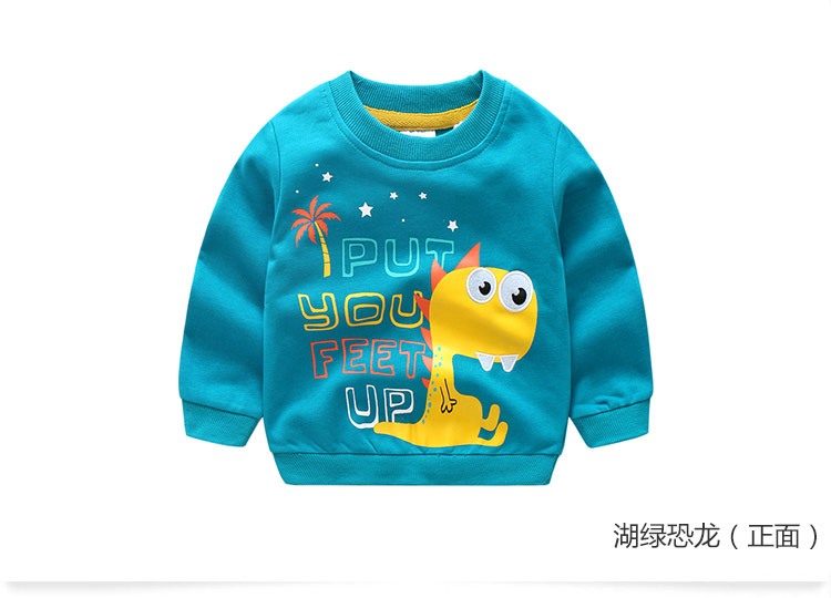 2018 Autumn Winter Warm 2-10 Years Old Children Long Sleeve Cartoon Animal Print School Baby Fleece Handsome Kids Boy Sweatshirt (11)