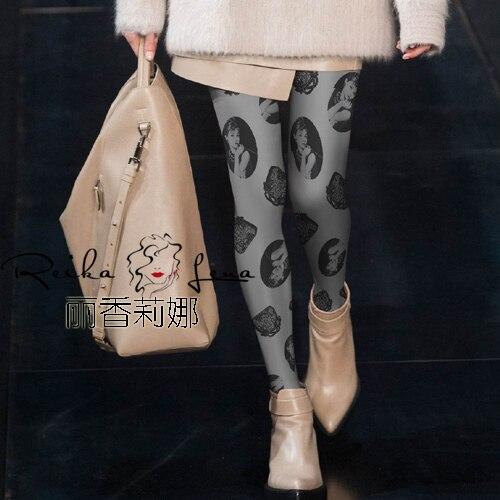Stockings Polyester Direct Selling Print Medias Pantis Woman Women Tights The New 2016 Retro Classic Printing Pantyhose Fashion