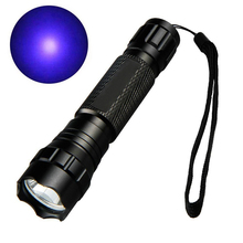 цена PANYUE 20PCS LED UV Flashlight Torch Light 395nm Ultra Violet Light Blacklight UV Lamp Torch 18650 Battery For Detection онлайн в 2017 году