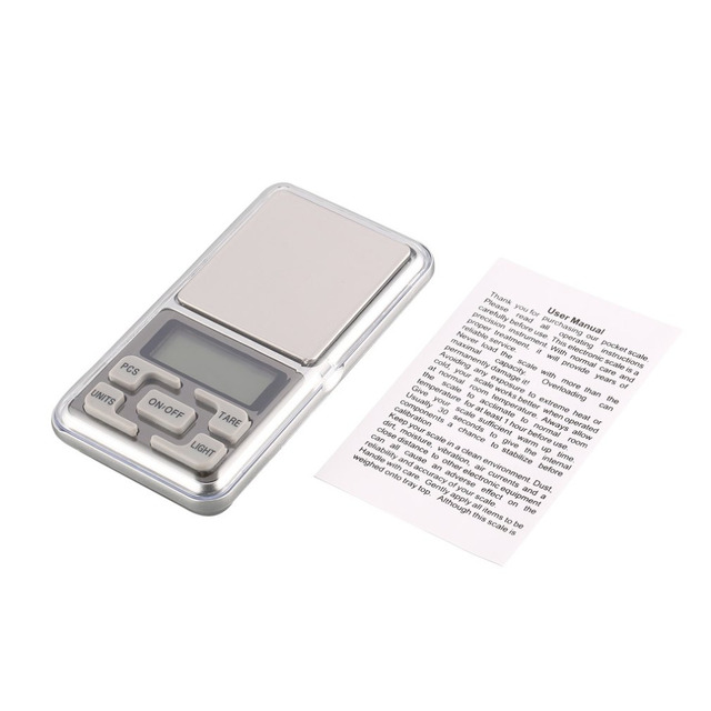 Mini Digital Pocket Scale 1000g 0.1g Precision g/tl/oz/ct/gn Weight Measuring for Kitchen Jewellery Gold Tare Weighing 1