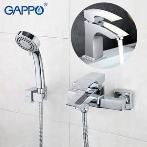 Image 1 - GAPPO sanitary ware bathroom faucets  wall mounted bathtub faucet basin faucet chrome tap  Bathroom Shower Faucet tap set