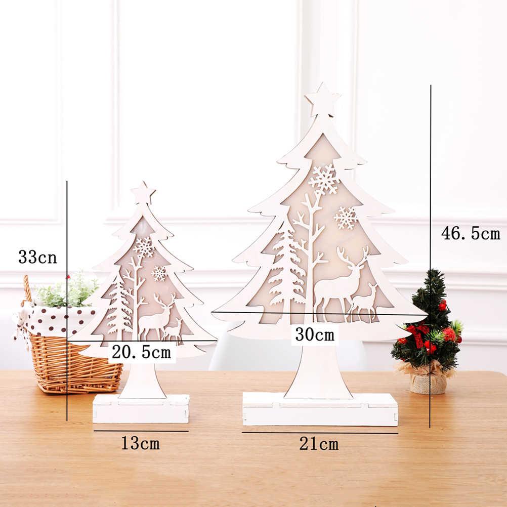 1 шт. Деревянная Рождественская елка креативные светодиодные декоративные светильники Украшение ночник для спальни праздничные подарки Рождественская вечеринка