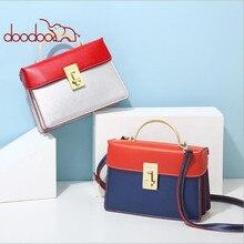 Korean version of the 2018 new summer fashion handbags Guangzhou organ bag personality contrast color shoulder diagonal package