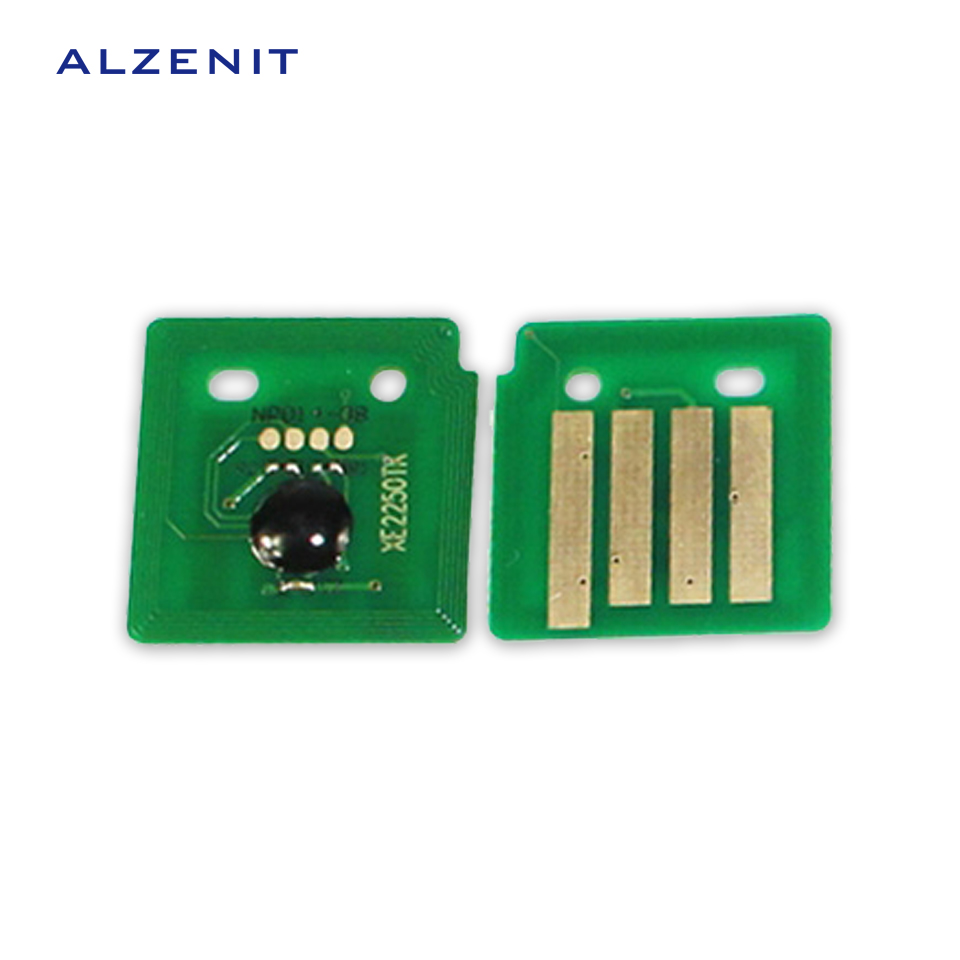 4Pcs ALZENIT For Xerox C2250 C2255 C3360 CA3250 OEM New Drum Count Chip Four Color Printer Parts On Sale cs dx18 universal chip resetter for samsung for xerox for sharp toner cartridge chip and drum chip no software limitation