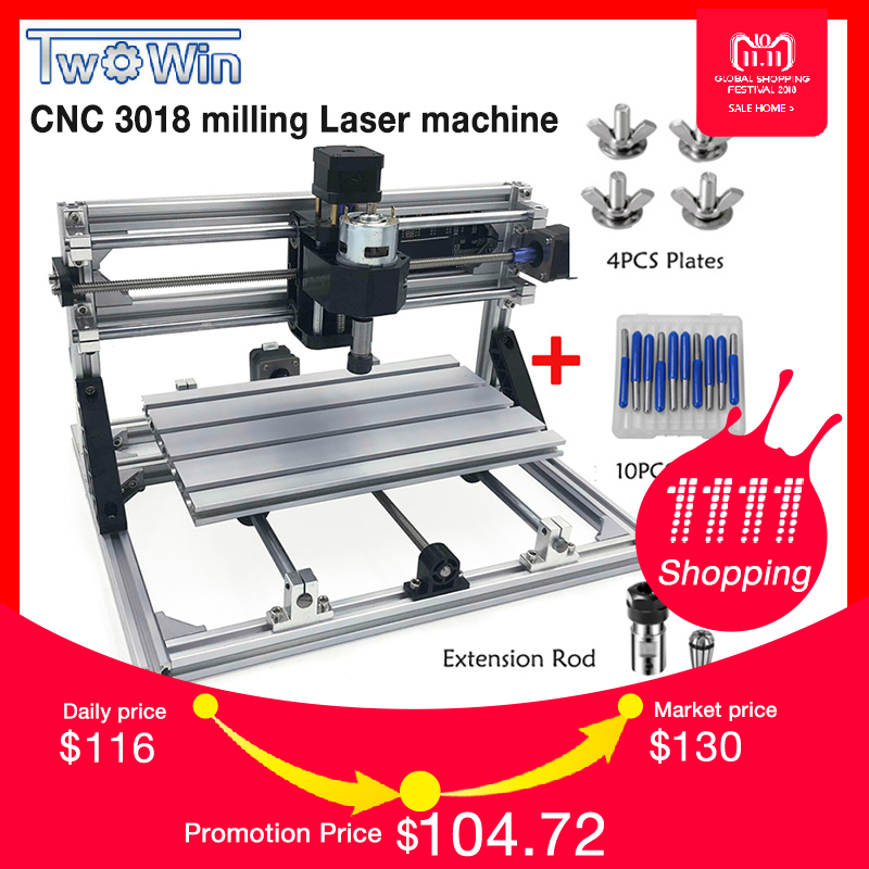 цена на CNC3018 ER11,DIY Mini CNC Engraving Machine,Pcb Milling Machine,Wood Router,Laser Engraving,GRBL Control,Craved metal
