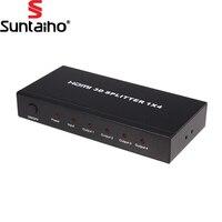 HD 4K Powered V1 4 HDMI 1x4 Splitter Audio Video 1080P HD HDMI Splitter Box Power