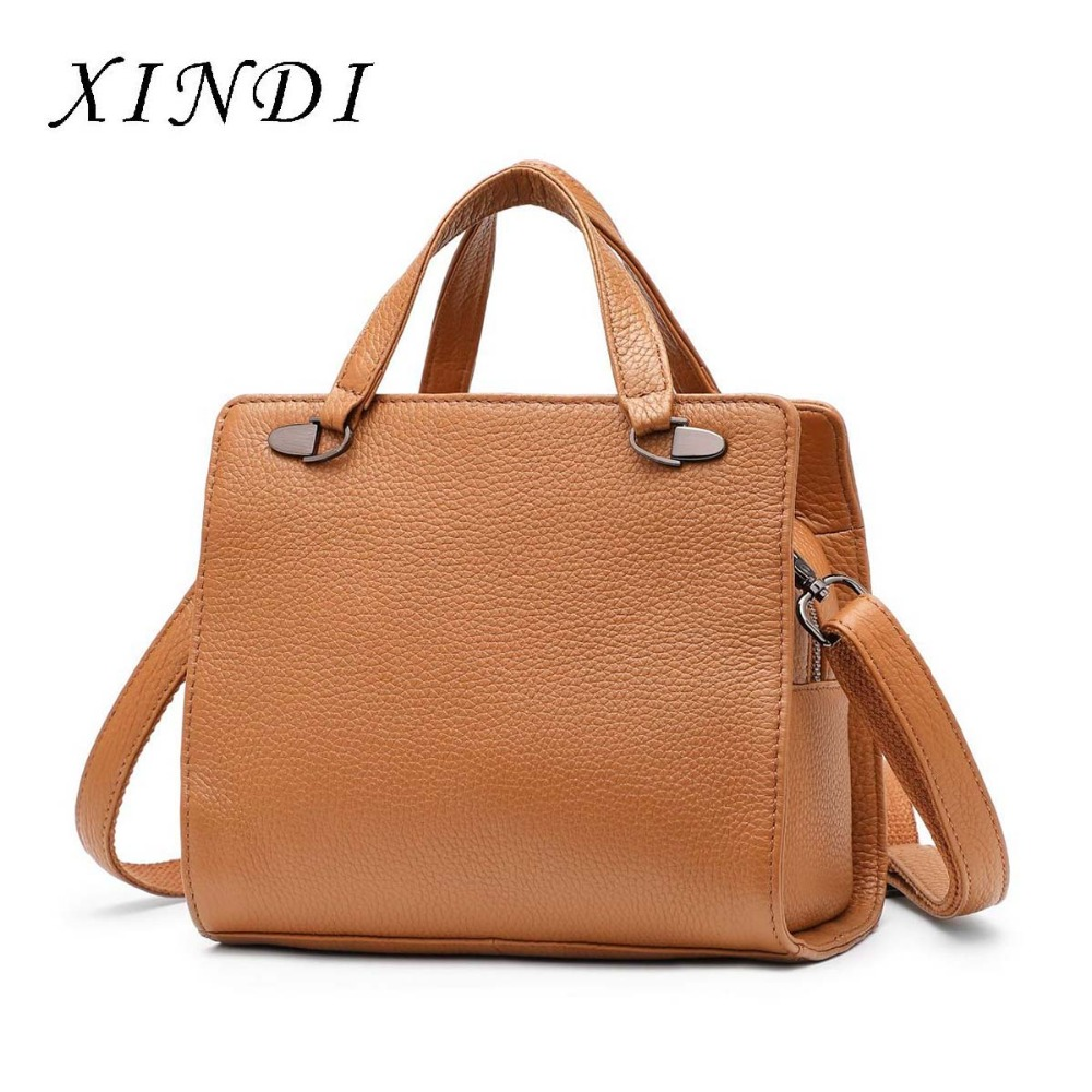 XINDI 2018 NEW crossbody bag Brand Genuine Leather Handbag Shoulder Bags Luxury Sac Women Bags High Quality female bag Designer female handbag bag fashion women genuine leather cowhide large shoulder bag crossbody ladies famous brand big bags high quality