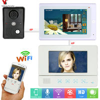YobangSecurity 2x 7 Inch Monitor Wifi Wireless Video Door Phone Doorbell Camera Home Security Intercom System