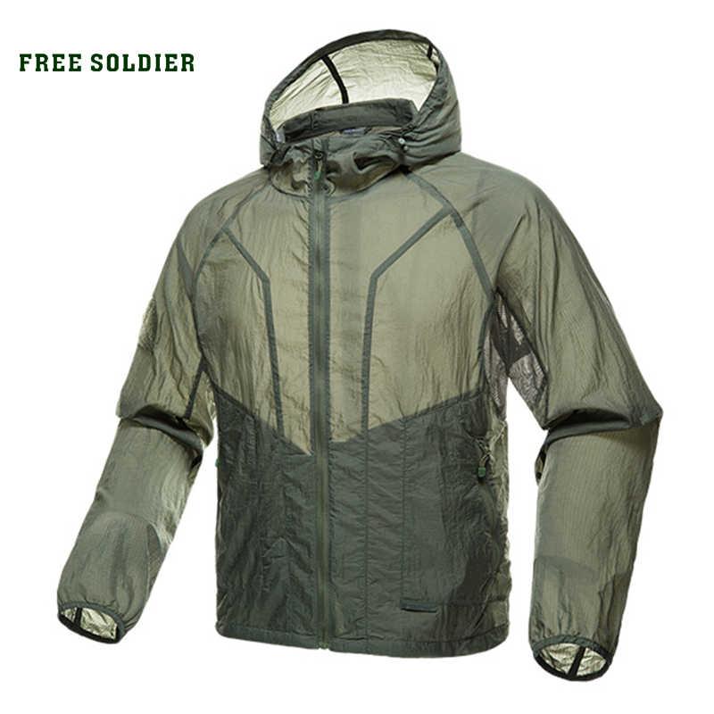 Soldado livre esportes ao ar livre acampamento tático militar camisa dos homens casaco de pele uv camisa proteção solar roupas manga longa