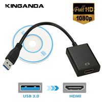 Внешний видео Графическая карта Кабель USB 3,0 HDMI 1080 P Кабель-адаптер конвертер USB3.0 HDMI Multi Monitor Дисплей HDTV адаптер