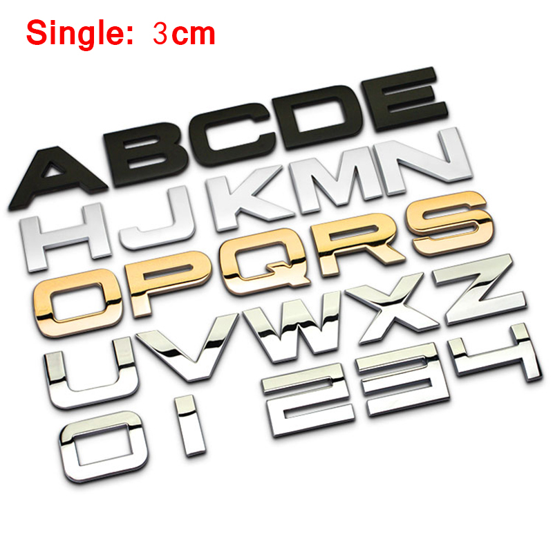 AUDI 45 Emblem Logo power Chrome Zinc Car Styling Emblem Sticker Trunk Numbers