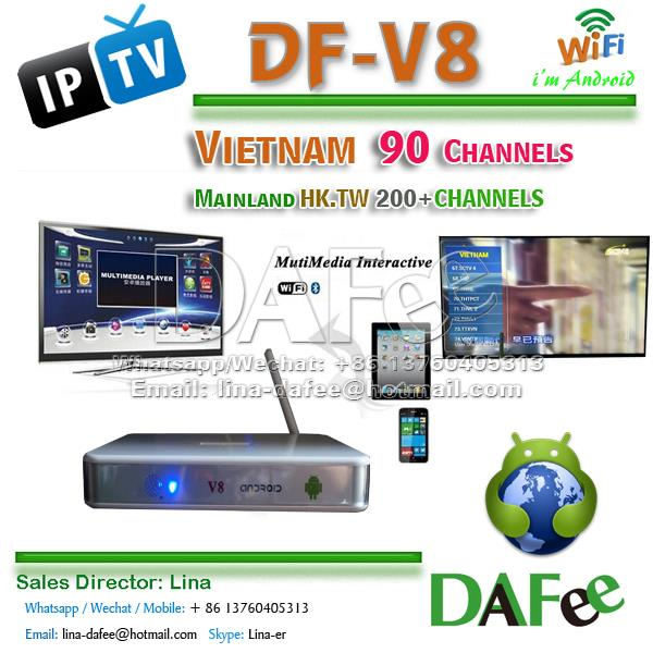 4pcs Best Vietnam IPTV Android TV BOX 90 Vietnam Channels