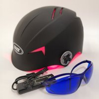 68 soft lasers scalp exerciser cap helmet+glasses+timer+massage comb 4 in 1