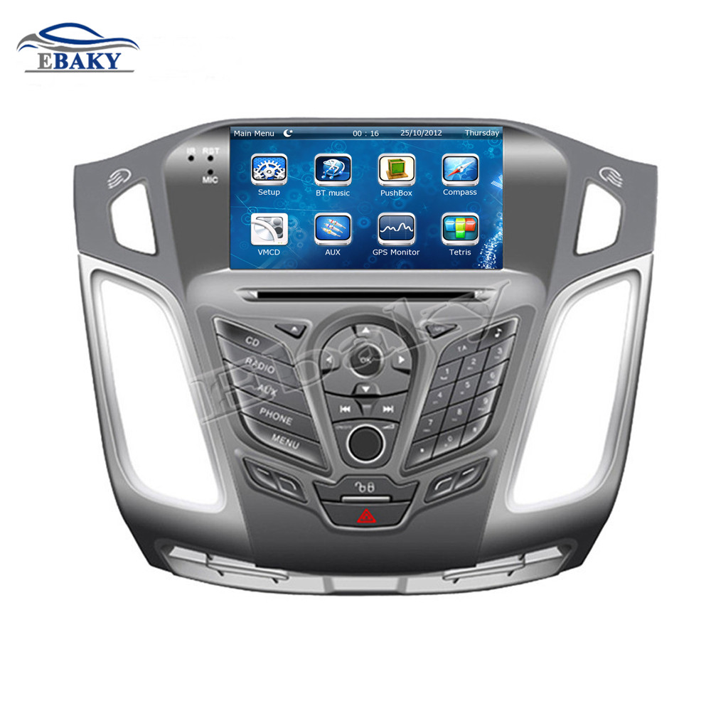 NaviTopia 7inch Car DVD Player For Ford FOCUS 2012 with buttons Car Multimedia With Radio Audio/Bluetooth/GPS/map