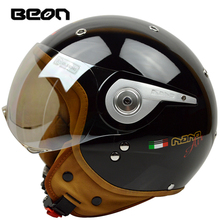 Beon Vintage Off Road Motocross Feminino motosiklet yarım kask kafa şapka casque capacete kasko sürme kaskları