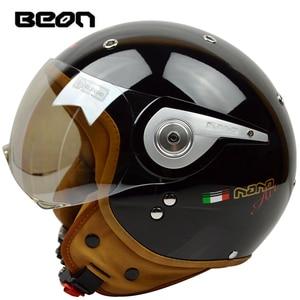 Image 1 - באון בציר מכביש מוטוקרוס Feminino אופנוע חצי קסדת ראש כיסויי ראש קסדה capacete casco רכיבה עבור קסדות
