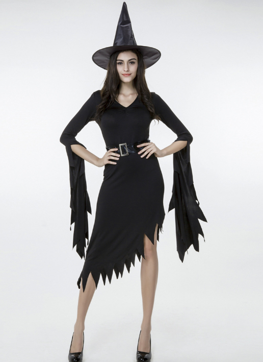 2017 new black irregular nuns witch witch dress out of Halloween costume