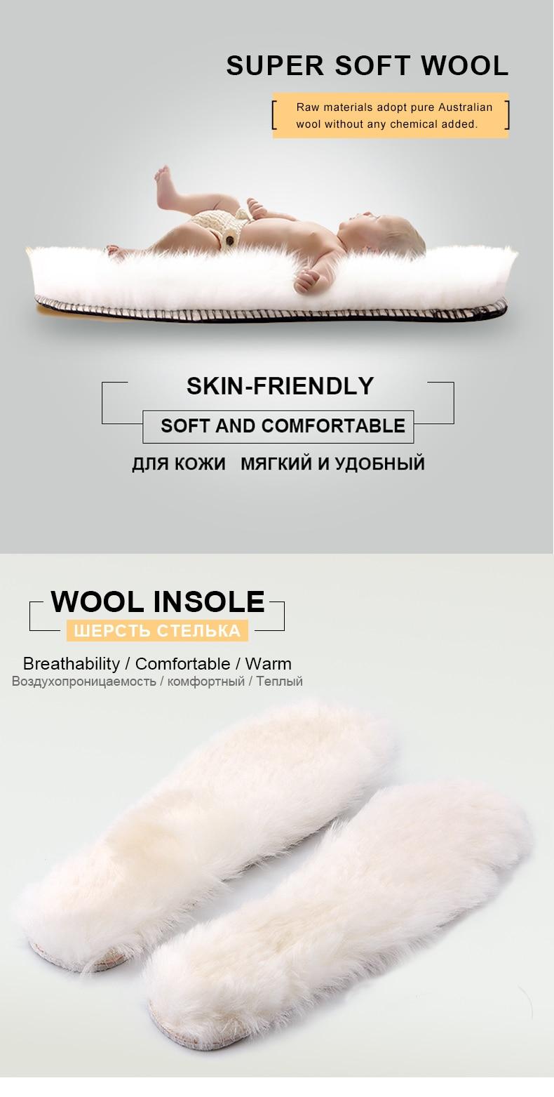 Großhandel Xammep Natürliche Schaffell Wolle Einlegesohlen Kaschmir Thermische Lammfell Pelz Erwachsene Kinder Winter Stiefel Schuhe Einlegesohlen