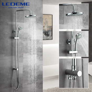 LEDEME New Bathroom Shower Classic Bathroom Shower Faucet Bath Faucet Mixer Tap With Hand Shower Head Set Wall Mounted L2400 - DISCOUNT ITEM  40% OFF All Category
